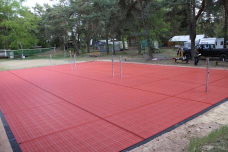 3-Felder Badminton Sportboden-System